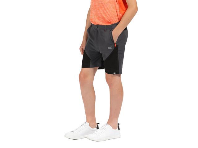 Regatta Sorcer Pantalones cortos de montaña Niños, seal grey/black